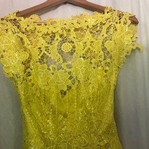 Party Dress in Women Yellow